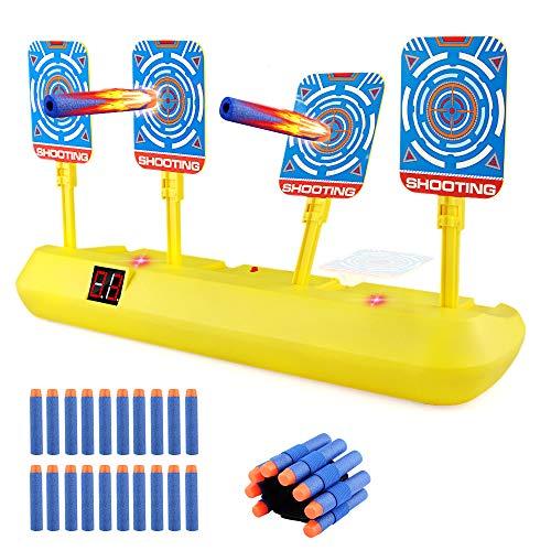 Blasland Digitale Zielscheibe für Nerf Pistole, Kinderspielzeug Auto Reset mit Licht Sound Effekte & 20 Darts...