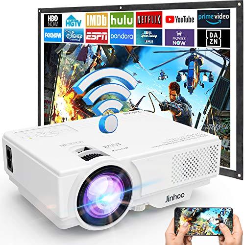 Beamer, WiFi Beamer, M8-TPA Wireless Projektor 5500 Lumen, Video Beamer Unterstützt 1080P Full HD, Native...