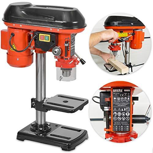 Hecht Standbohrmaschine, Säulenbohrmaschine mit starken 550 Watt – 9-stufige Dreh-zahlregelung, drehbar -...