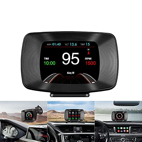 Head up Display OBD2 / GPS-Dual-System Auto Universelles digitales HUD Display, OBD-Diagnose, Auto Tachometer...