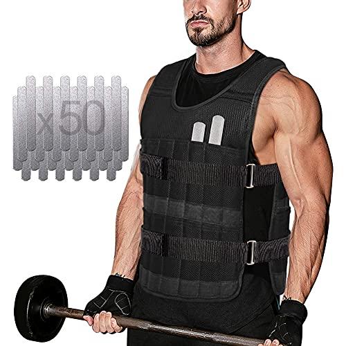 DOBEN Sports Gewichtsweste - 10KG Krafttraining Jacke Durable Oxford Weight Vest,mit herausnehmbare...