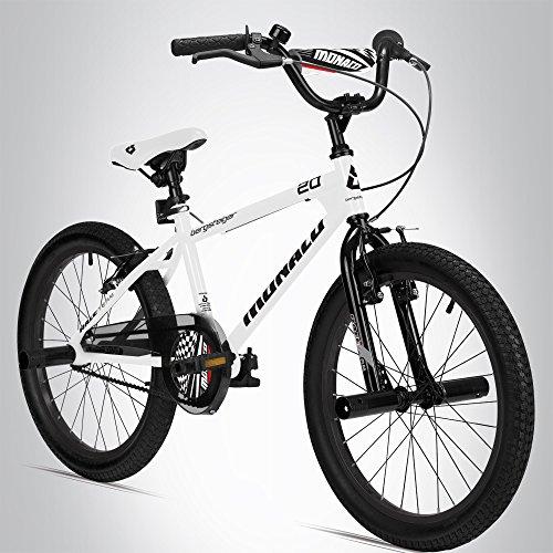 Bergsteiger Monaco 20 Zoll BMX, Kinderfahrrad, geeignet für 6, 7, 8, 9 Jahre, Freestyle, 4 Stahl Pegs,...