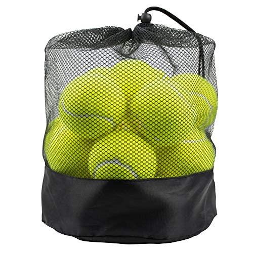 Tebery 20 Stück Tennisbälle mit Mesh-Tragetasche, Tennis Training Übungsbälle Hundespielzeug Spielbälle,...