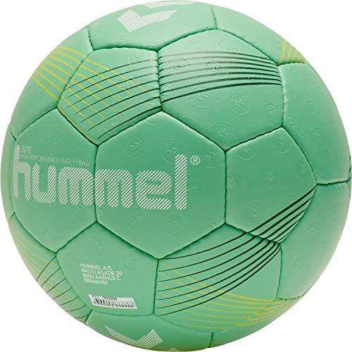 hummel Unisex-Adult Elite HB Handball, Green/Yellow, 3
