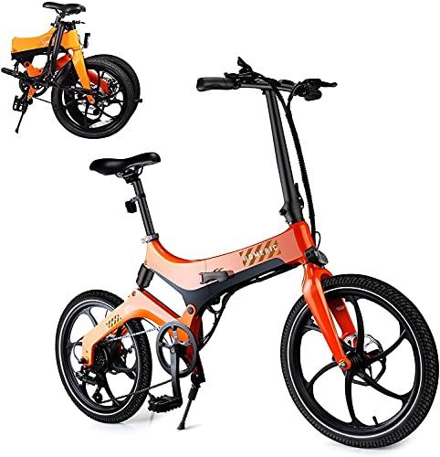 Faltbares Elektrofahrrad E-Bike für Erwachsene, 20'' Elektro-Pendlerfahrrad mit 7.8AH Abnehmbarem...