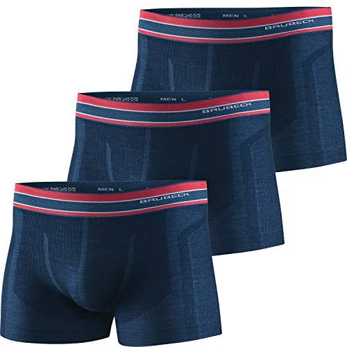 BRUBECK 3er Pack Sportunterhose Herren I Retropants atmungsaktiv | Sportunterwäsche nahtlos | Unterhose...