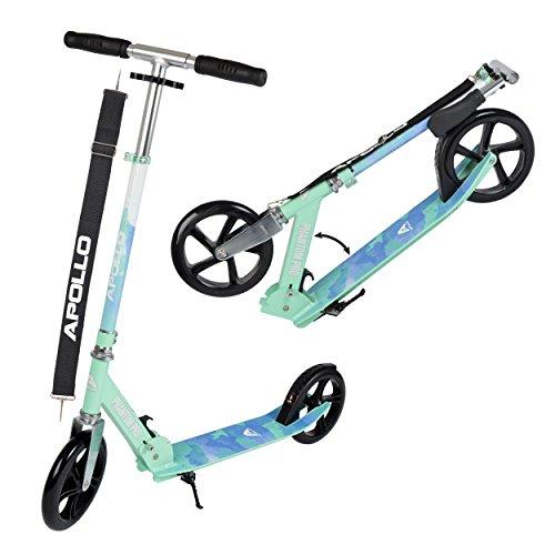 Apollo XXL Wheel Scooter - Phantom Pro City Scooter, Klappbarer City-Roller, höhenverstellbar, Tret-Roller...