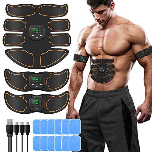 SUNGYIN EMS Muskelstimulator bauchtrainer ABS Trainingsgerät Professionelle USB Elektrostimulation Elektrisch...