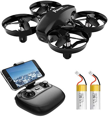 Potensic Mini Drohne mit Kamera Dual Akkus RC Quadrocopter Drohne 2.4Ghz FPV Live Übertragung Ferngesteuerte...
