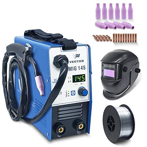 Fülldraht Schweißgerät ohne Gas - Drahtschweißgerät mit 145 Amp & Elektrodenschweißfunktion mit 140 Amp...