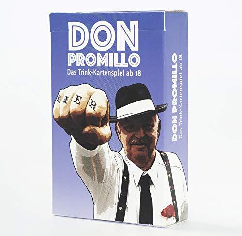 Town Rocket Games Don Promillo – Das Trink-Kartenspiel - Perfekt zum Vortrinken, Jungesellenabschied oder...