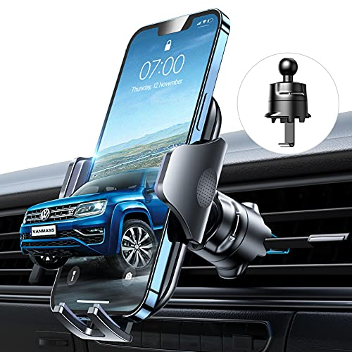 VANMASS Kfz Handyhalterung Auto Lüftung [Hält Bombenfest] mit Stabilem Lüftungshaken 360°Drehbar 100%...