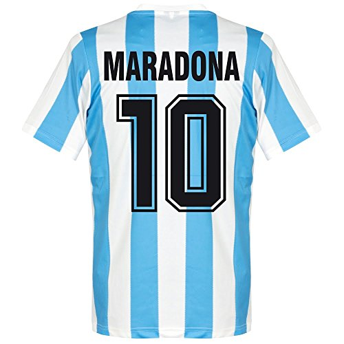 Le Coq Sportif 1986 Argentinien Home Retro Trikot + Maradona 10 - S