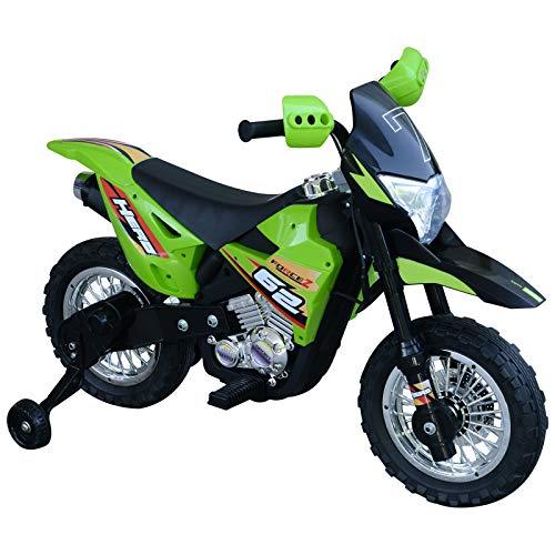 HOMCOM Elektro-Motorrad Kindermotorrad Elektrofahrzeug 3 bis 6 Jahre 3–6 km/h MP3 Musik LED-Licht Sound...