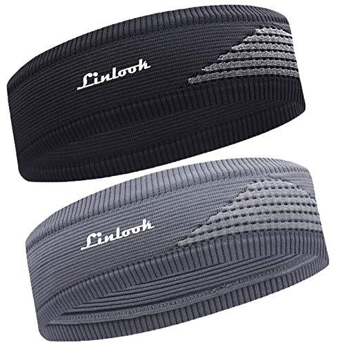 Sport Stirnband für Herren und Damen-Unisex 2Pack Schweißband Stirn Mode Gestricktes Stirnbänder...