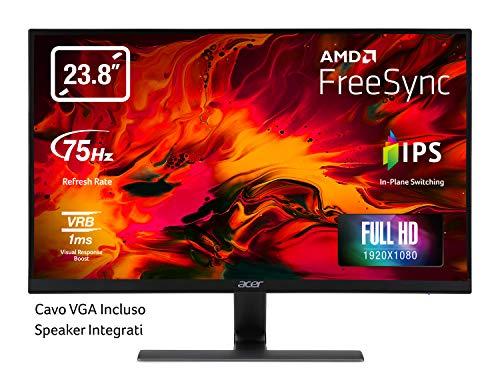 Acer RG240Y Gaming Monitor 23,8 Zoll (60 cm Bildschirm) Full HD, 75Hz HDMI/DP, 60Hz VGA, 1ms (VRB), 2xHDMI...