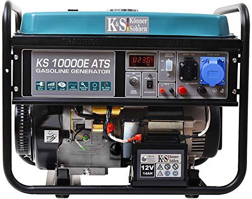Könner & Söhnen Stromerzeuger KS 10000E ATS - Generator Benzin 18 PS 4-Takt Benzinmotor mit E-Starter,...