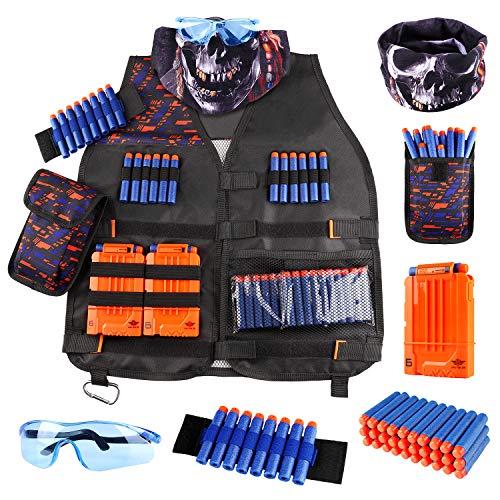 UWANTME Taktische Weste für Nerf Guns N-Strike Elite Serie Tactical Vest Kit Nerf Zubehör Set für Kinder...