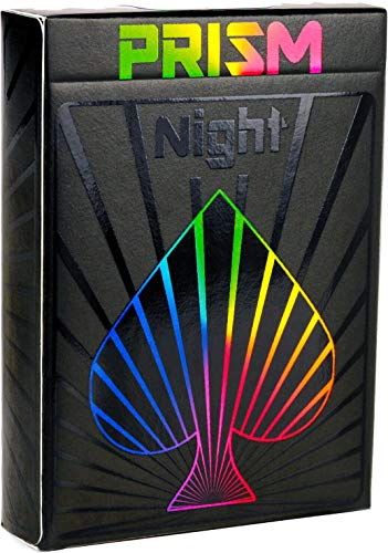 PREMIUM SPIELKARTEN, hochwertiges schwarzes Kartendeck, Prisma-Nachtglanztinte, toll als Pokerkarten,...