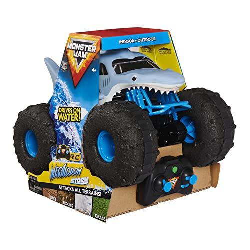 Monster Jam Megalodon Storm, ferngesteuertes Amphibienfahrzeug in Hai-Optik für Land und Wasser, Maßstab...
