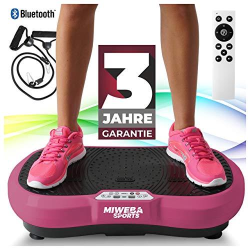 Miweba Sports Fitness 2D Vibrationsplatte MV100-3 Jahre Garantie - 3 multidimensionale Vibrationszonen -...