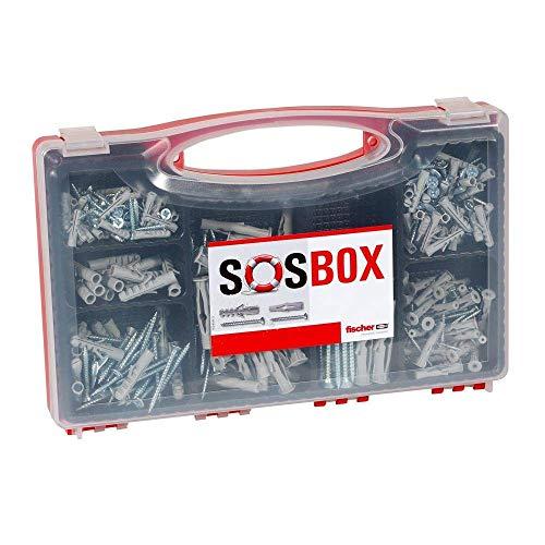 fischer SOS-Box mit Spreizdübel S und Universaldübel FU - Für zahlreiche Baustoffe und vielfältige...