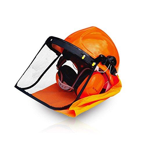 HECHT 900100 Forstschutz-Helm Sicherheitshelm Forsthelm Gehörschutzhelm (4 in 1 Helm, Gesichtsschutz,...