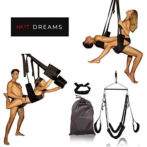 HOT DREAMS Premium Liebesschaukel Sex fr die Decke Komplettset inkl. Augenbinde, Sexschaukel fr Paare...