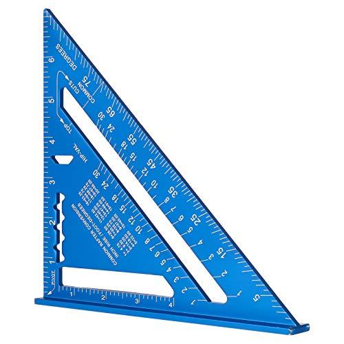 7-Zoll-dreieckiges Lineal, blaues Dreieckslineal, hohe Präzision, Aluminium-Legierung, Dreieckslineal,...