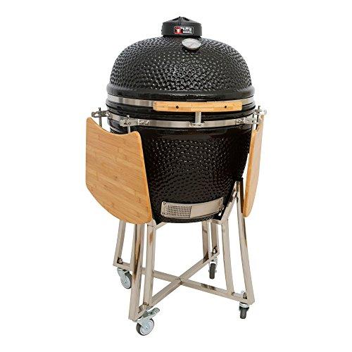 Mayer Barbecue Brenna Keramik-Grill Kamado Grill MK-23, Holzkohlegrill mit Deckel, 23', 50 cm XXL...