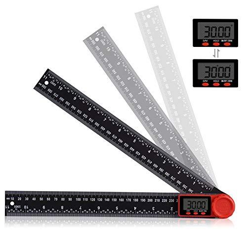 2 in 1 Digitales Winkelmesser Aweohtle 360° Multi Winkel Lineal mit LCD Anzeige und HOLD und Feststell...