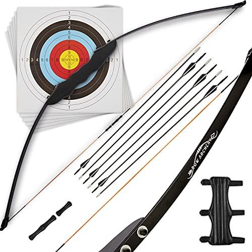 Bow Archery Pfeil und Bogen Set Erwachsene [Sportbogen, Recurvebogen, 30 LBS] Bogenschießen Set Zielscheibe...