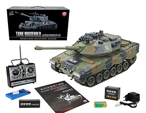 s-idee® RC Panzer YH4101E-11 German Leopard mit Airsoft-Feuerung 1:16 2.4 Ghz
