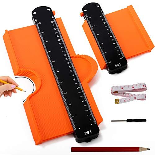 Konturenlehre Mit Feststeller, 5 and 10 Inches Konturlehre with Adjustable Lock, High-Density ABS Teeth...