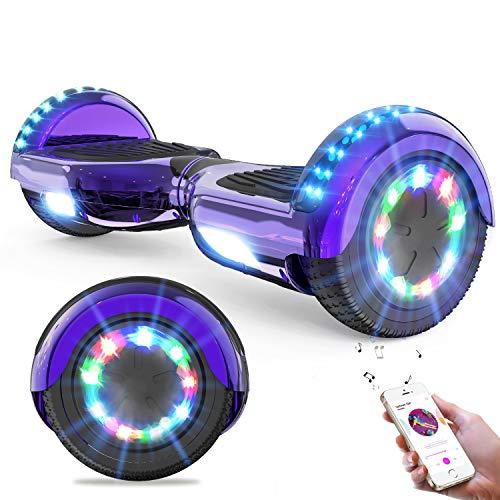 GeekMe Hoverboards,Self Balancing Scooter 6.5',Elektroroller mit Bluetooth-Lautsprecher, LED-Leuchten,...