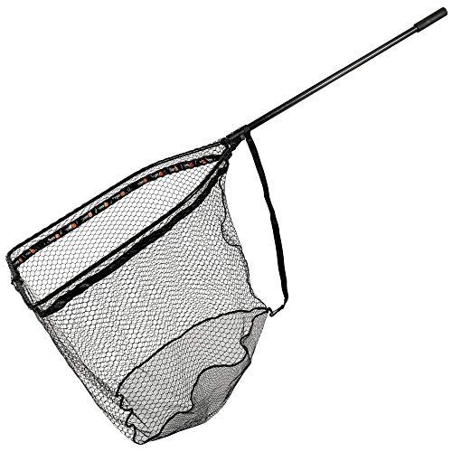 ZECK Folding Rubber Net XL 92,5x70x85cm - Hechtkescher zum Spinnfischen auf Hechte & Zander, Angelkescher,...