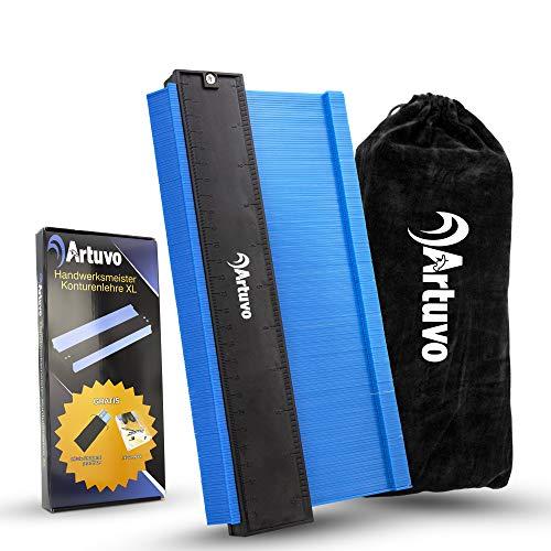 Artuvo® Konturenlehre groß - Premium Laminat Werkzeug inkl. Schutzbeutel - Meisterhaftes Abtasten und...