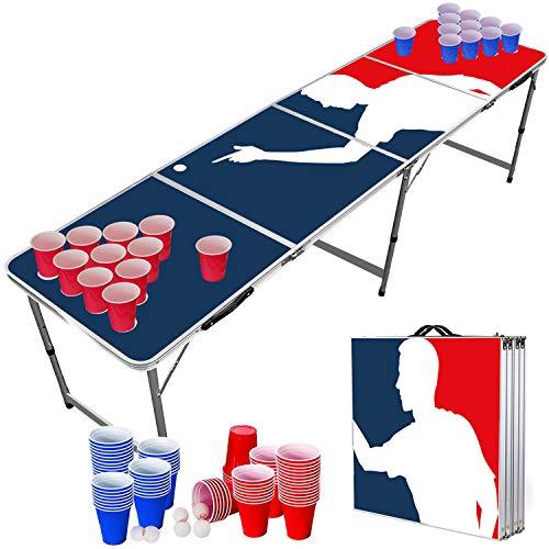 Offizieller Player Beer Pong Tisch Set | Full Beer Pong Pack | Inkl. 1 Beer Pong Tisch + 120 53cl Becher (60...