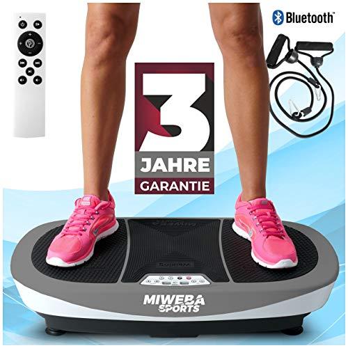Miweba Sports Fitness Vibrationsplatte MV200 – 3 Vibrationsmodi – Horizontal – Vertikal – Oszillierend...