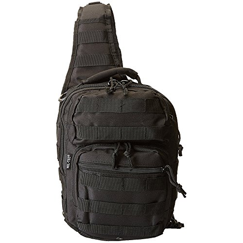 Mil-Tec 14059102 US Assault Pack One Strap small Schwarz