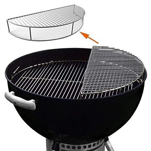 GFTIME Warmhalterost rund 52.3cm für Weber 57cm Holzkohlegrills, den Einsatz Wasserkocher Grill-Kohle...