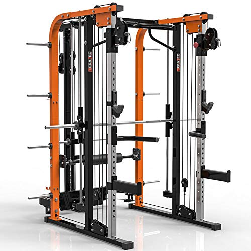 MegaTec Smith Cable Rack mit Latzug - Multipresse - Plate Load (Hantelscheibenaufnahme 50 mm)