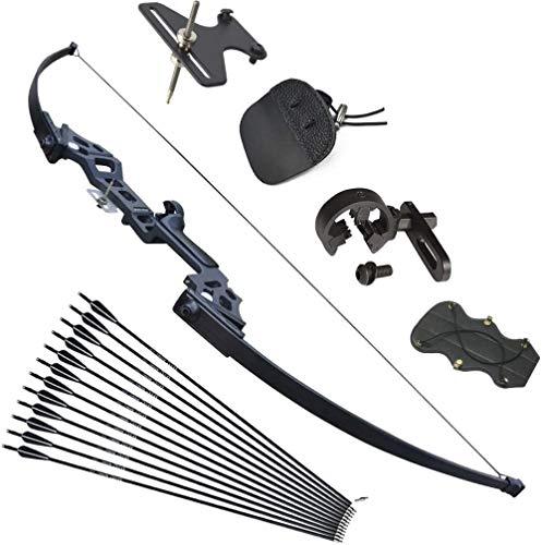 Tongtu 40lbs Bogenschießen Pfeil und Bogen Recurvebogen Set Takedown Stright Recurve Bogen Set Jagd Praxis...