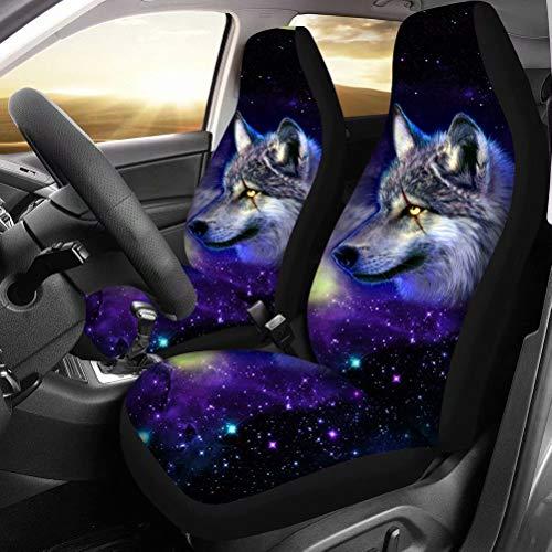 chaqlin Galaxy Animal Wolf Autositzschutz Für Universal Fit Auto Autositzbezüge Schutz Für Auto LKW...