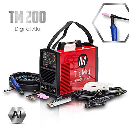 TIGMIG Digital 200 AC/DC WIG Schweigert AC DC Schweissgert mit 200 Amper Volldigitales Inverterschweigert Inkl...