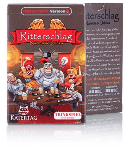 Katertag Trinkspiel - Ritterschlag - Narren und Drinks - Das kreativste Trinkspiel Aller Zeiten - für...