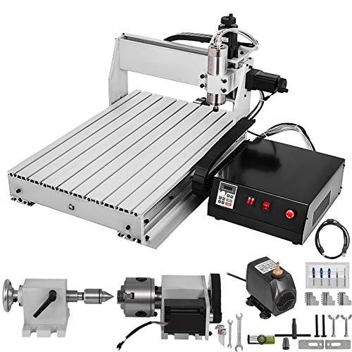VEVOR DIY Mini CNC 6040 4 Achsen Maschine Graviermaschine, 4 Drehachsen CNC 6040 Lasergravur Maschine, 4...