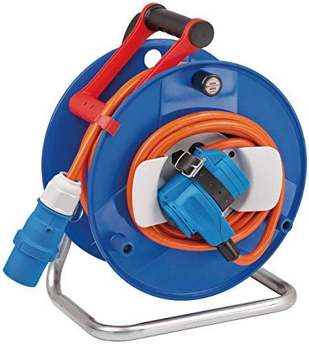 Brennenstuhl CEE-Kabeltrommel mit 20m Kabel in orange (CEE Kabeltrommel mit CEE-Winkelkupplung inkl....