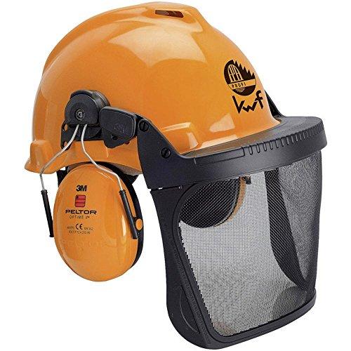 3M Forstschutzhelm mit integriertem Visier Orange Forest XA007707319