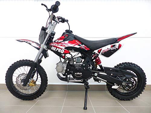 RV-Parts KXD Dirt Bike 125ccm 17/14 Zoll Cross Vollcross Pocketbike Pit Enduro 125cc 12PS